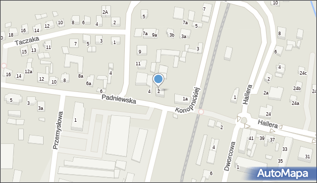 Mogilno, Padniewska, 2, mapa Mogilno