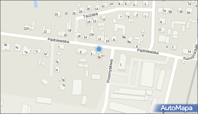 Mogilno, Padniewska, 3a, mapa Mogilno