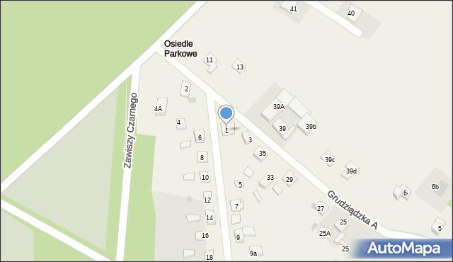 Nowa Wieś, Parkowa-Osiedle, 1, mapa Nowa Wieś