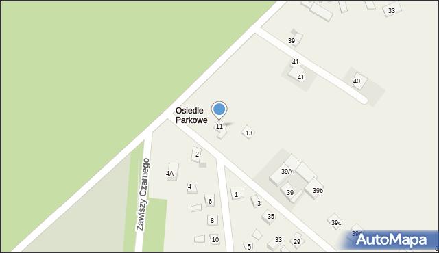 Nowa Wieś, Parkowa-Osiedle, 11, mapa Nowa Wieś