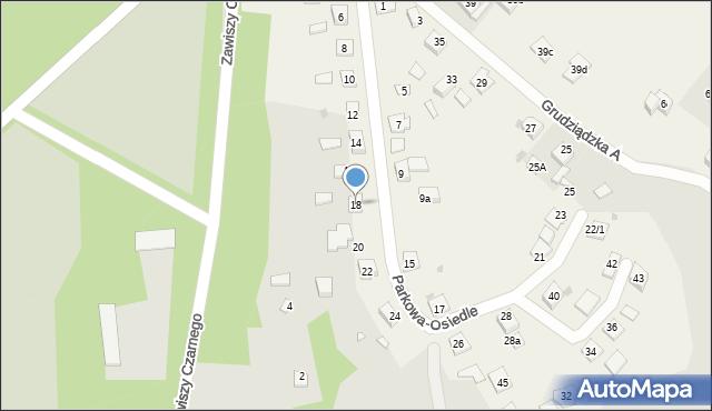 Nowa Wieś, Parkowa-Osiedle, 18, mapa Nowa Wieś