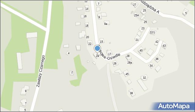 Nowa Wieś, Parkowa-Osiedle, 24, mapa Nowa Wieś