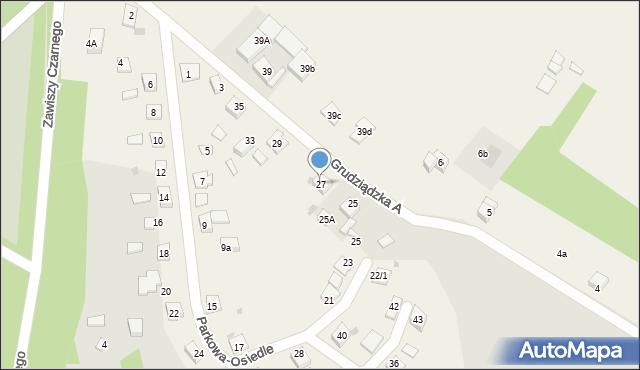 Nowa Wieś, Parkowa-Osiedle, 27, mapa Nowa Wieś