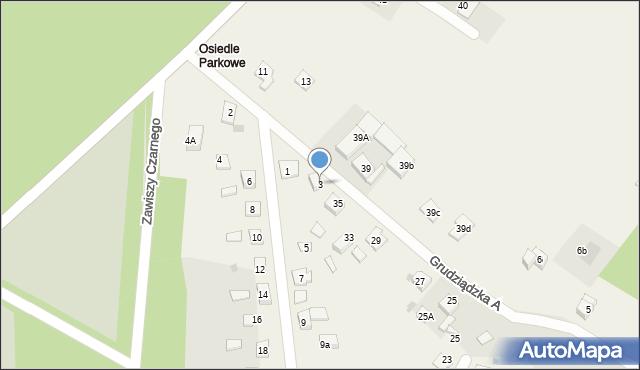 Nowa Wieś, Parkowa-Osiedle, 3, mapa Nowa Wieś