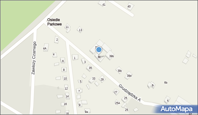 Nowa Wieś, Parkowa-Osiedle, 39, mapa Nowa Wieś