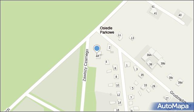 Nowa Wieś, Parkowa-Osiedle, 4A, mapa Nowa Wieś