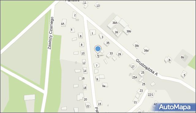 Nowa Wieś, Parkowa-Osiedle, 5, mapa Nowa Wieś