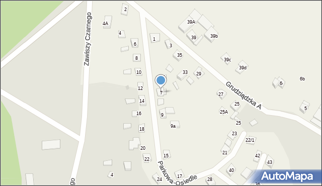 Nowa Wieś, Parkowa-Osiedle, 7, mapa Nowa Wieś