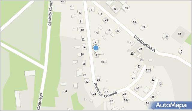 Nowa Wieś, Parkowa-Osiedle, 9, mapa Nowa Wieś