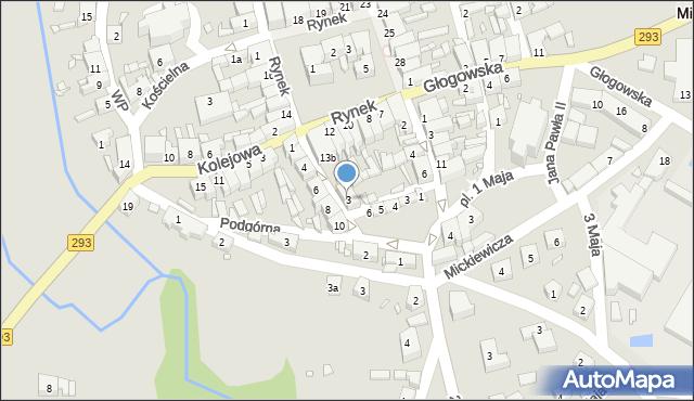 Nowe Miasteczko, Paderewskiego Ignacego Jana, 3, mapa Nowe Miasteczko