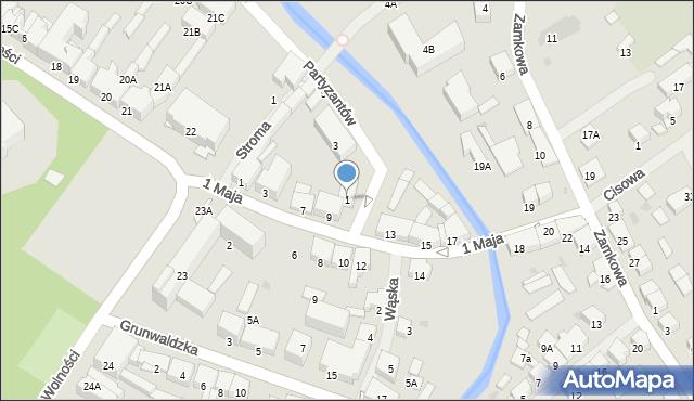 Olecko, Partyzantów, 1, mapa Olecko