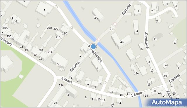 Olecko, Partyzantów, 5, mapa Olecko