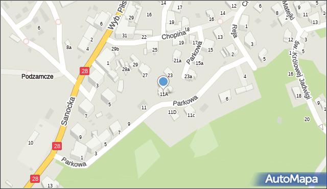 Przemyśl, Parkowa, 11A, mapa Przemyśla