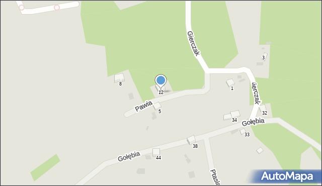 Przemyśl, Pawia, 12, mapa Przemyśla