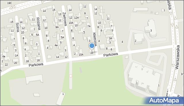Radom, Parkowa, 10, mapa Radomia