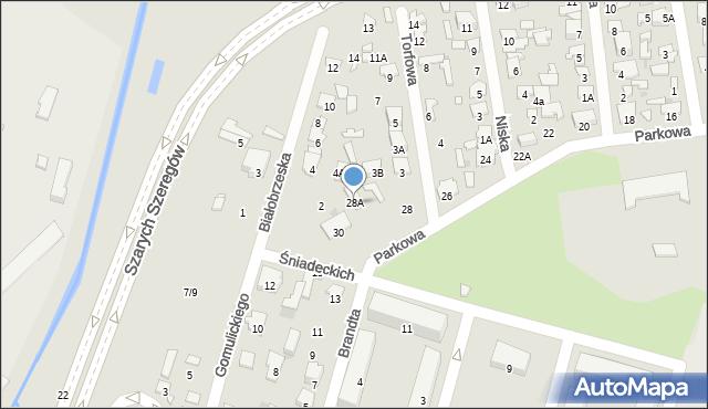 Radom, Parkowa, 28A, mapa Radomia