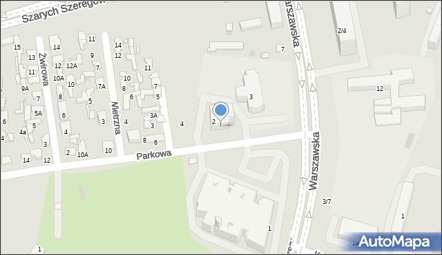 Radom, Parkowa, 2a, mapa Radomia