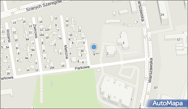 Radom, Parkowa, 4, mapa Radomia