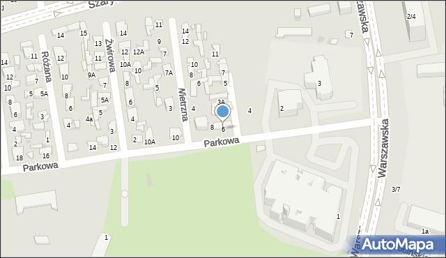 Radom, Parkowa, 6, mapa Radomia