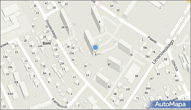 Radom, Pawia, 5, mapa Radomia