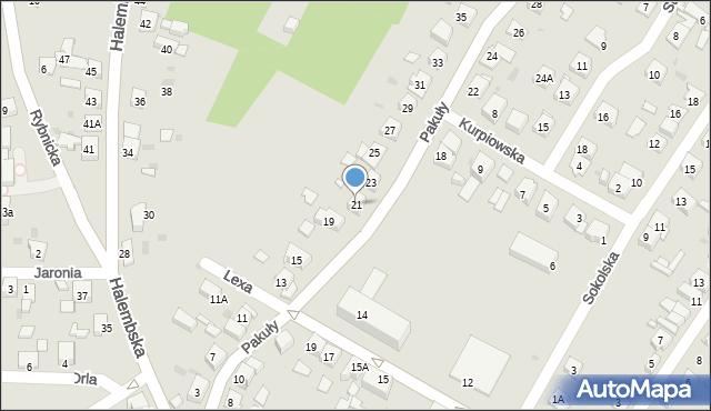 Ruda Śląska, Pakuły Alberta, 21, mapa Rudy Śląskiej