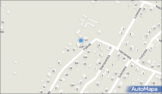 Ruda Śląska, Pakuły Alberta, 41A, mapa Rudy Śląskiej
