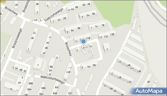 Ruda Śląska, Parandowskiego Jana, 4, mapa Rudy Śląskiej