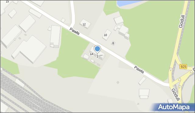 Ruda Śląska, Pawła, 1, mapa Rudy Śląskiej