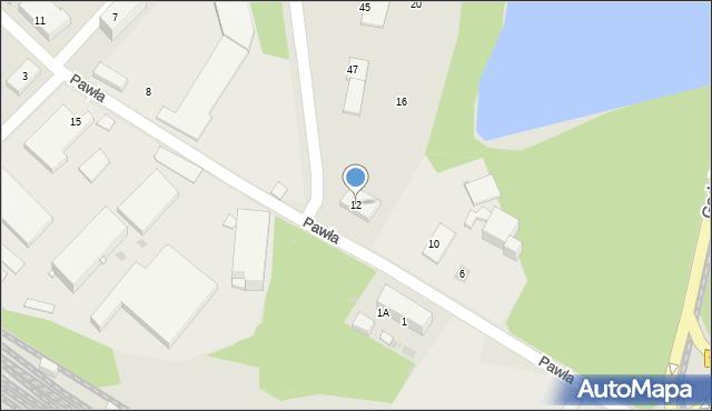 Ruda Śląska, Pawła, 12, mapa Rudy Śląskiej