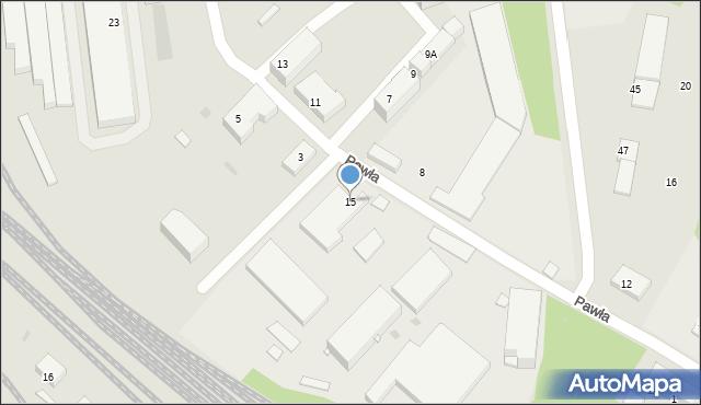 Ruda Śląska, Pawła, 15, mapa Rudy Śląskiej