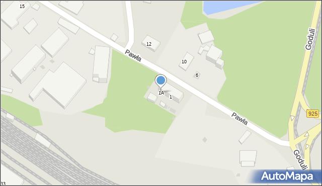 Ruda Śląska, Pawła, 1A, mapa Rudy Śląskiej