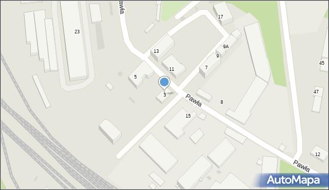 Ruda Śląska, Pawła, 3, mapa Rudy Śląskiej