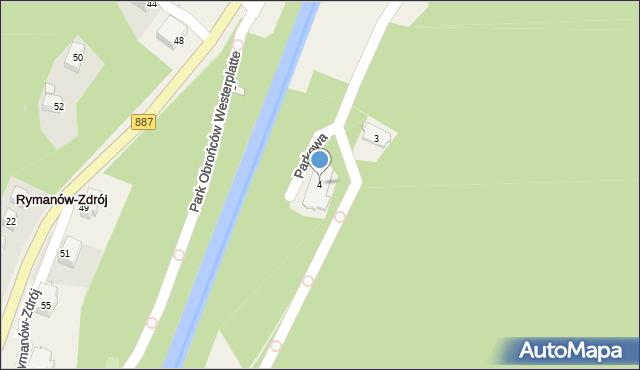 Rymanów-Zdrój, Parkowa, 4, mapa Rymanów-Zdrój