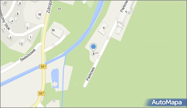 Rymanów-Zdrój, Parkowa, 8, mapa Rymanów-Zdrój