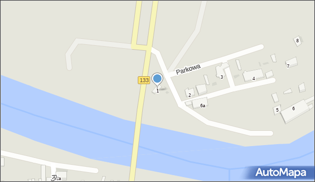 Sieraków, Parkowa, 1, mapa Sieraków