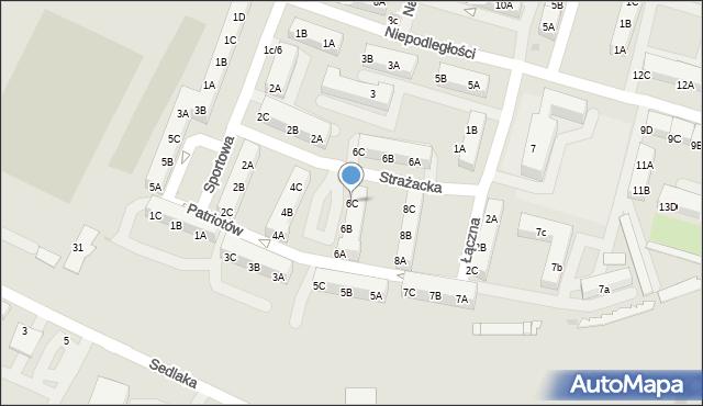 Sosnowiec, Patriotów, 6C, mapa Sosnowca