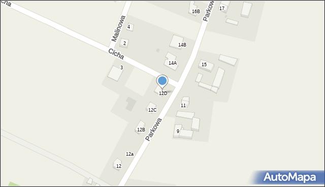 Sucha Górna, Parkowa, 12D, mapa Sucha Górna