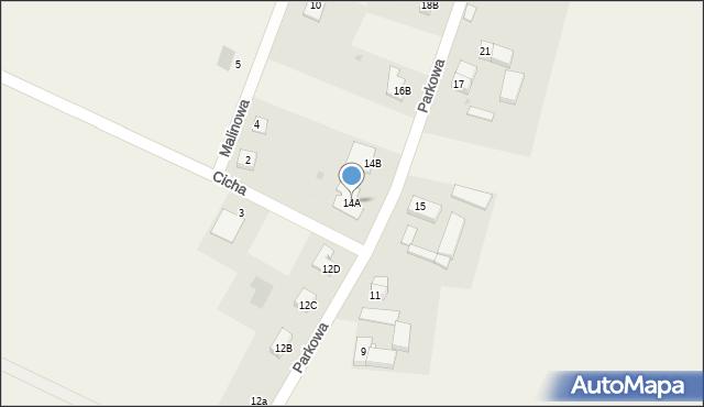 Sucha Górna, Parkowa, 14A, mapa Sucha Górna