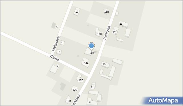 Sucha Górna, Parkowa, 14B, mapa Sucha Górna