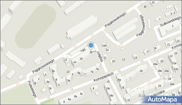 Toruń, Pająkowskiego Gerarda, 20, mapa Torunia