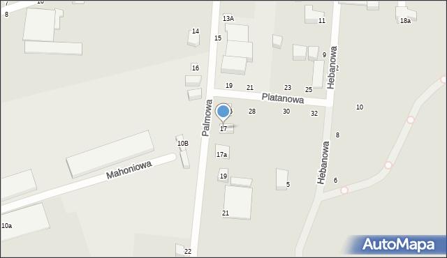 Toruń, Palmowa, 17, mapa Torunia