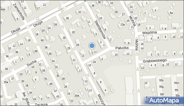 Toruń, Pałucka, 1, mapa Torunia