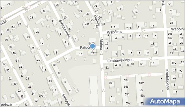 Toruń, Pałucka, 12, mapa Torunia