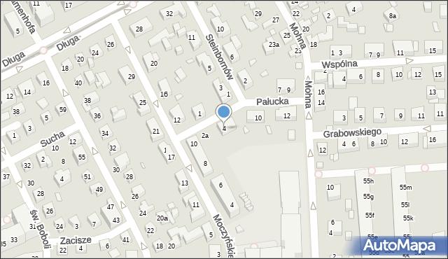 Toruń, Pałucka, 4, mapa Torunia