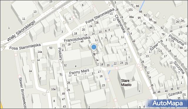 Toruń, Panny Marii, 2B, mapa Torunia