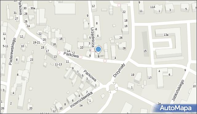 Toruń, Parkowa, 6, mapa Torunia