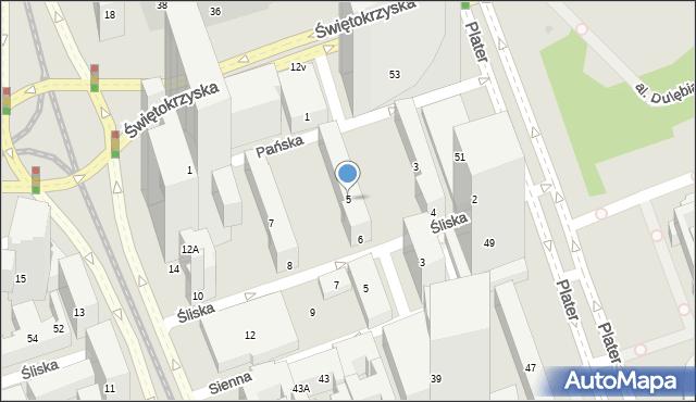 Warszawa, Pańska, 5, mapa Warszawy