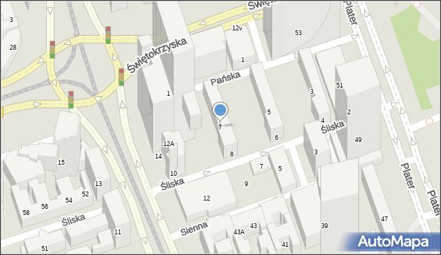 Warszawa, Pańska, 7, mapa Warszawy