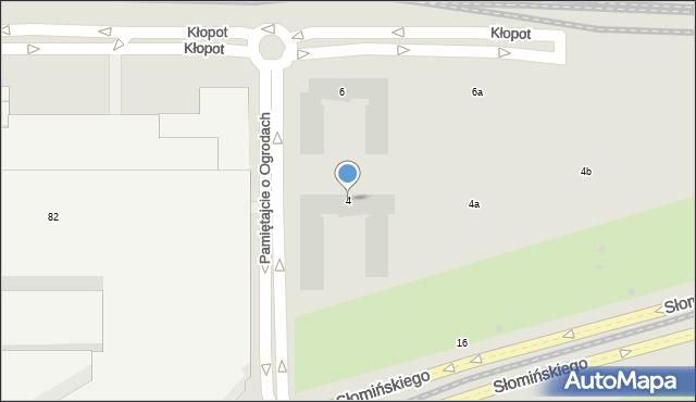 Warszawa, Pamiętajcie o Ogrodach, 4, mapa Warszawy