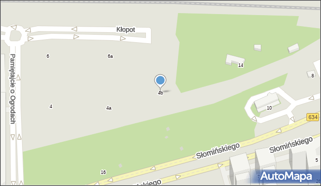 Warszawa, Pamiętajcie o Ogrodach, 4b, mapa Warszawy